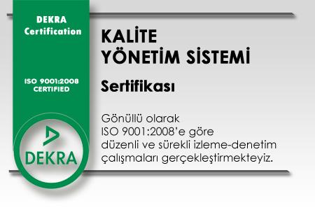 Dekra Kalite Yönetim Sistemi Sertifikası